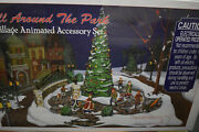 Dept 56 All Around The Park Village Animated Set Christmas - New In Sealed Box