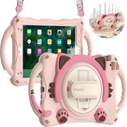 Braecn Kids Case For Ipad Mini 5/4/3/2/1, Silicone Shockproof Protective Pink