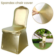 Spandex Dining Room Chair Covers Slip Seat Cover Removable Wedding Shiny Gold