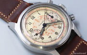 Gallet Spiral Tachymeter Screwed Two-piece Case Valjoux23 Manual Wind Chronograp