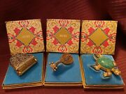 Avon Vintage Perfume/glace' Collectibles- Tortoise, Grand Piano And Mandolin