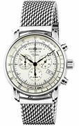 Zeppelin Watch 100 Years Anniversary Silver Dial Plate 7680-m1 Mens