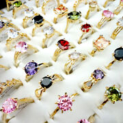 Costume Jewellery Mixed Lots 20pcs Colorful Zircon Lady's Rings