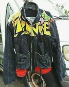 Vntge Too Cute Disney Guetta Minnie Mouse 80's Hip Hop Jean Jacket Free Shipping