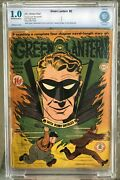Green Lantern 2 Cbcs 1.0 -- O/w To White Pages Bill Finger / Nodell Cgc