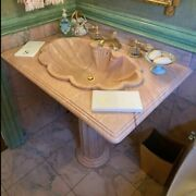 Sherle Wagner Hand Carved Onyx Pedestal Sink Beautiful Ny