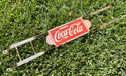 Vintage Coca Cola Soda Coke Porcelain Door Push Bar Sign Country Grocery Store