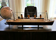 Led Built In Rms Titanic Wooden Model Ship 40 Inch With Warm Light Assembled