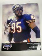 Richard Dent Signed Autographed Chicago Bears 8x10 Photo Hof 2011 Snickers Nfl