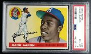 1955 Topps Hank Aaron 47 Psa 6 Just Back Gorgeous Card Braves Comb Shipping