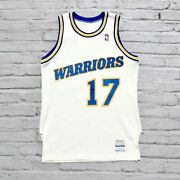 Vintage 80s Golden State Warriors Chris Mullin Jersey Sand Knit Game Worn Used