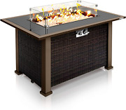 Outdoor Propane Fire Pit Table - Csa Approved Safe 50000btu Auto-ignition Propa