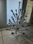 Vintage Aluminum Christmas Tree Pom Pom Approx. 4ft 8inches Tall