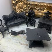 6 Vintage 1960s Cast Iron Doll Furniture Taiwan