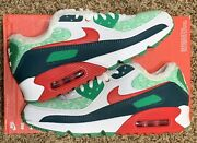 Nike Air Max 90 Nordic Christmas Ugly Sweater White Red Dc1607-100 Mens Size 8