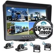 1080p Backup Camera With 9 Large Dvr Monitor For Rv Semi Box Truck 9-inch