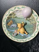 Classic Pooh 3d Plate A Fine Day For A Balloon Ride Disney