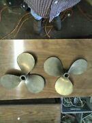 Propellers Chris-craft 28and039 Sea Skiff 14 X 10 Matched Set Rh And Lh