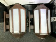 Outdoor Exterior Commercial Wall Sconce Lights Pair Set - Local Pickup Only