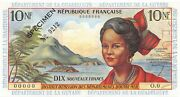 French Antilles 10 Nf Nd. 1963 P 5s Specimen 0212 Uncirculated Banknote