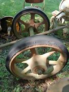 Antique Axles And Wheels Possibly The Same As Mack Truck Wheels Tow Dolly