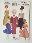 Vogue Craft Pattern 7384 11 1/2 Fashion Doll Clothes Skating Outfit Uncut