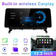 Android Car Gps Stereo Navigation 12.3and039and039 Ips For Bmw X3 X4 F25 F26 2011-2013 Cic