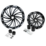 23 Front And 18and039and039 Rear Wheel Rim Hub Fit For Harley Touring Electra Glide 08-21