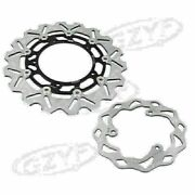 Front Rear Brake Disc Rotor Black Steel Bicycle For Yamaha Yzf R3/r25 2015-16 Us