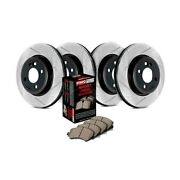 For Ford Explorer 91-92 Stoptech Sport Slotted 1-piece Front And Rear Brake Kit