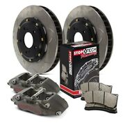 For Acura Integra 97-01 Competition Pillar Bi-slotted 2-piece Front Brake Kit