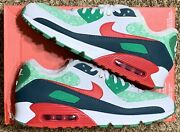 Nike Air Max 90 Nordic Christmas Ugly Sweater White Red Dc1607-100 Mens Size 11