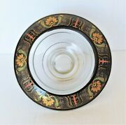 Vintage Centerpiece Chinese Asian Fruit Bowl Large Hand Painted Floral Designs