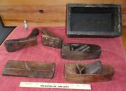 Lot Of Wooden Crate Box Plane Block Planers Ny Tool Co, Union Factory Chapin +