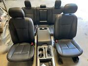 18-20 Ford F150 Black Crew Cab Front Seats Lariat Heated Cooled Set Console Rear