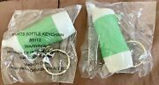 Lot Of 2 Tupperware Mini Sports Bottle Keychains - Green/white - Factory Sealed