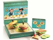 Djeco Emile And Olive Sandwich Shop Role Play Dj06620 Toy Model