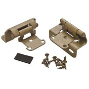 Amerock Self Closing Partial Wrap Around Cabinet Hinges Pair In Burnished Brass