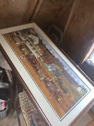 Charles Wysocki Signed Heartland Lithograph Ap 1/50 Hard To Find