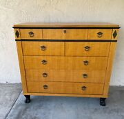 Vintage Baker Furniture 8 Drawer Chest Dresser Clawfoot Neoclassical