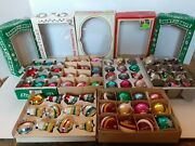 Vintage Shiny Brite Mercury Glass Christmas Ornaments Lot Of 61 Unsilvered Mixed