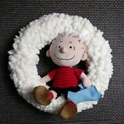 Peanuts Linus Childs Room Wall Art Hanging 15 Wreath Charlie Brown Snoopy