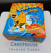 Pokemon Complete Booster Box Topps Series 3 Johto Very Rare Hard Find Neo Zzy