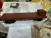 Bachmann G Scale 20 ' Flat Car And Crates, Metal Wheels, Knuckle Couplers New