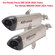 For Honda Forza 300 Nss350 2020 2021 Motorcycle Exhaust Middle Pipe Muffler Tip