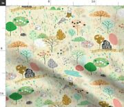 Apple Farm Fruit Orchard Sheep Trees Harvest Spoonflower Fabric By The Yard