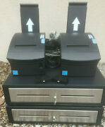 2 Ncr Silver Pos Tablet Cash Register Systems - Just Add Ipads - Ex+ Cond