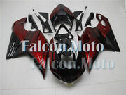 Red Black Injection Body Kit Fairing Fit For 2007-2012 Ducati 848 1098 1198 Mold