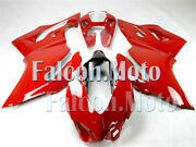 Red Injection Body Fairing Kit Fit For 2012-2014 Ducati 1199 899 Abs Mold Aav