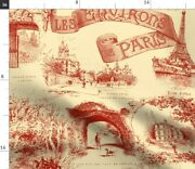 Yellow French Paris Toile Turkey Red Trianon Spoonflower Fabric By The Yard